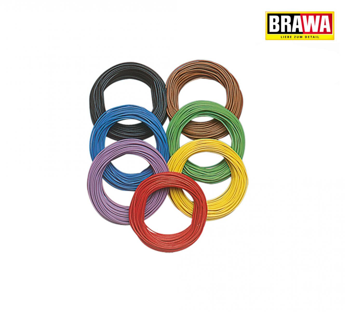 Brawa 3160 Decoder-Litze 0,08 mm², 10 m Ring, lila