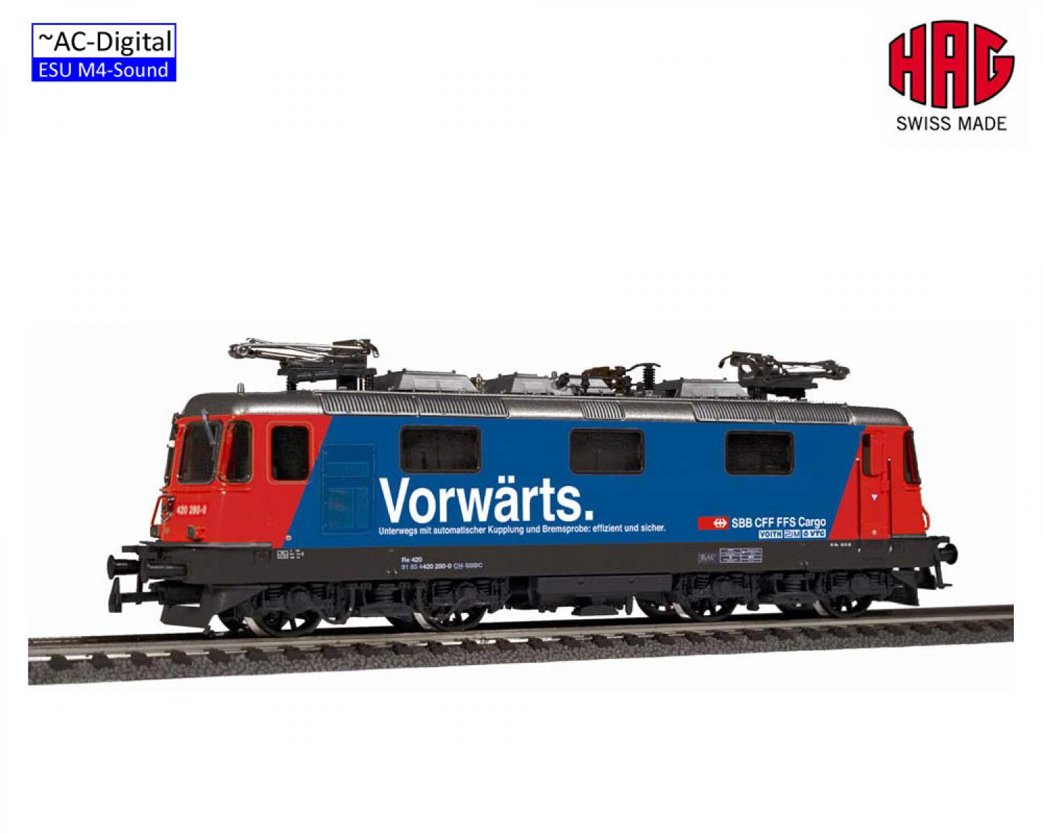 "HAG 16268-32 Re 4/4 ""Vorwärts"" DE/IT (AC-Sound)"