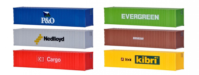 Meises Modelbahncenter Kibri 10922 H0 40 Fuss Container 6 Stuck